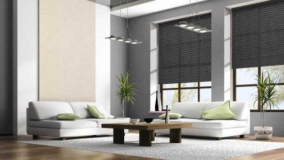 dunkle rollos nach ma rollo in schwarz f r dein zuhause sonevo. Black Bedroom Furniture Sets. Home Design Ideas